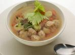 Супа топчета със зеленчуци
