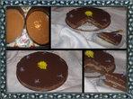 Шоколадово-кайсиева торта