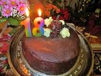 Шоколадова торта с два вида шоколадов мус