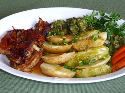 Телешко месо със зеленчуци на пара