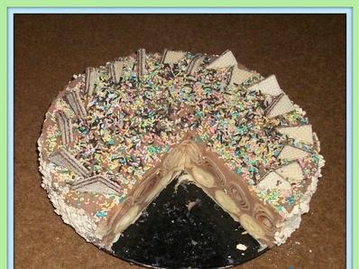 Палачинкова торта с млечен крем
