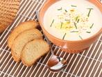 Млечна супа с тиквички и картофи