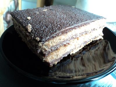 Торта с какаов крем