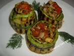 """""""Гнезда"""" от гриловани зеленчуци"""