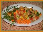 Вкусна салата с крутони