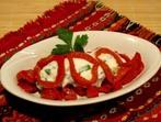 Салата с печени червени пиперки