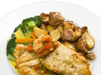Ароматно запечено пиле с броколи