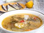 Рибена супа с лимон