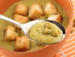 Крем супа с грах и мента