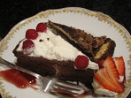 Шоколадов чийзкейк с вишни