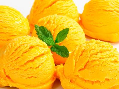 Сорбе от ананас и портокал