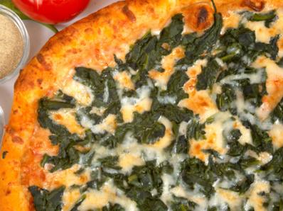 Пица със сирена и спанак