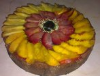 Торта с хляб и плодове