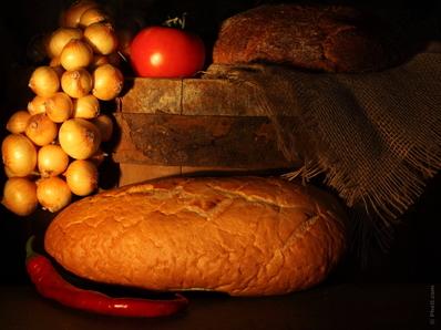 Пълнен хляб с моцарела, шунка и сушени домати