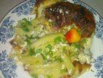 Пиле с картофи в сметана