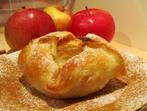 Ябълки в бутер тесто с крем