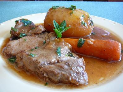 Свинска пържола в сос