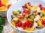 Диетична салата с кускус и зеленчуци
