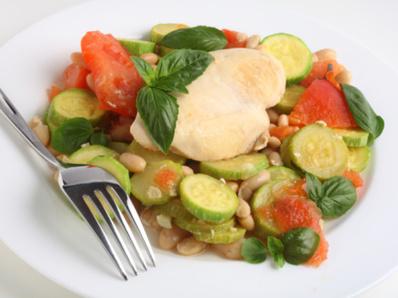 Пиле по италиански със зеленчуци