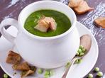 Грахова крем супа с билки