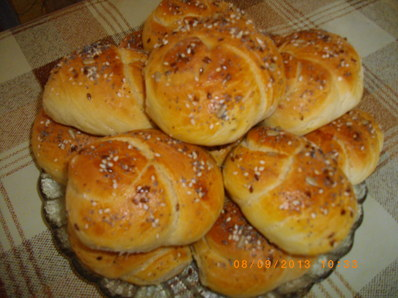 Вкусни хлебчета на възелчета