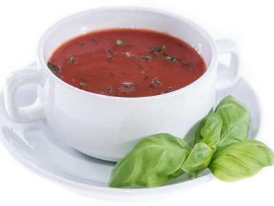 Доматена крем супа с босилек