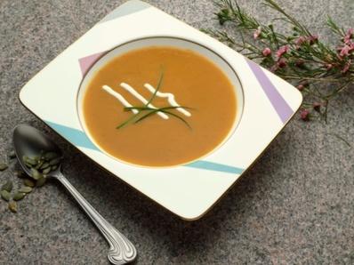 Крем супа от тиква с кокосово мляко