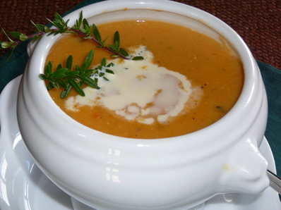 Крем супа с червена леща