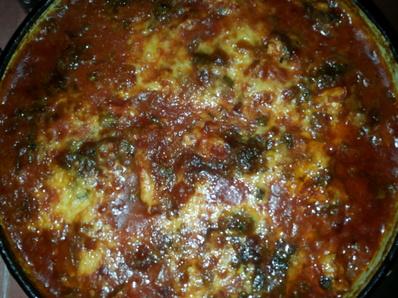 Риба с доматен сос на фурна