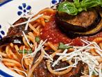 Шарени спагети на фурна
