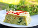 Пържен ориз със зелено къри