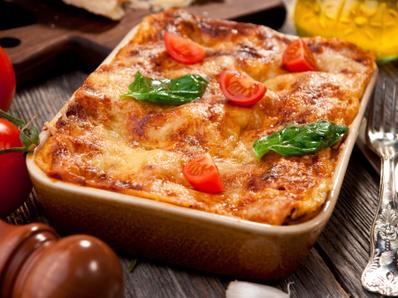 Вегетарианска лазаня с 4 вида сирене