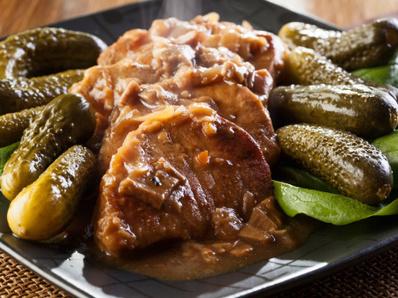 Свинско филе с Марсала и гъби