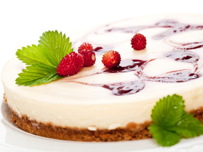 Малинов чийзкейк с бял шоколад