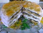 Торта със сметанов крем и желатин
