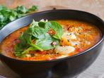 Супа с колбас, фасул и царевица