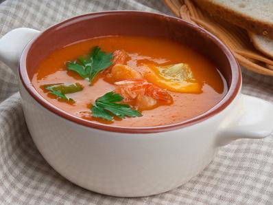 Доматена супа със скариди