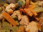 Богато пиле със зеленчуци