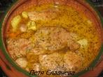 Свински пържоли с картофи и гъби в прясно мляко