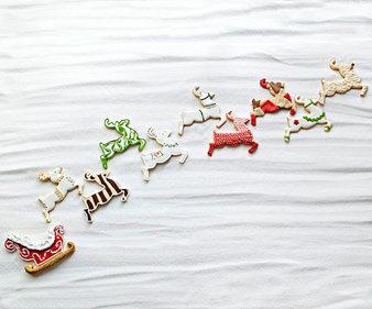 Декорации за сладки: Еленчетата на Дядо Коледа