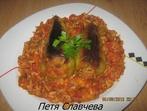 Пълнени чушки с ропотамо, кайма и ориз