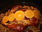Пуйка с мандарини и кестени