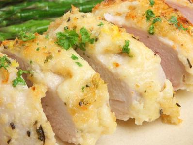Пиле с чесън и пармезан