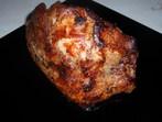 Печено свинско месо със сини сливи и синьо сирене