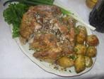 Пълнено пиле с квасена сметана
