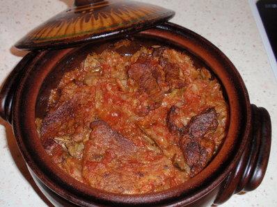 Свински пържоли с кисело зеле
