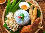 Наси керабу - малко син ориз в чинията