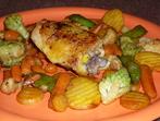 Пиле със замразени зеленчуци