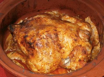 Пълнено пиле с брюкселско зеле