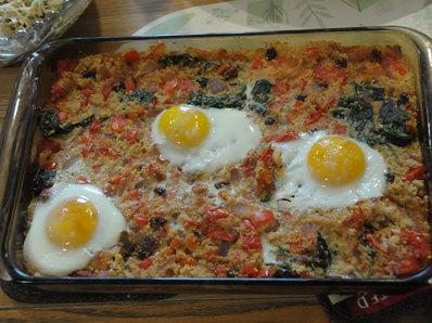 Кускус със спанак и яйца (Албания)